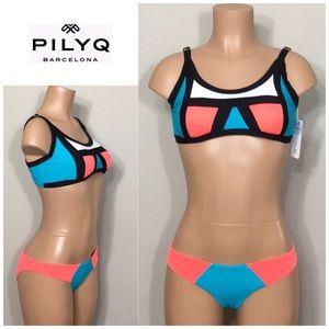 PILYQ Lagoon colorblock bikini. NWT